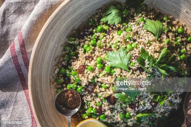Quinoa Sweet Pea Pilaf with Cinnamon