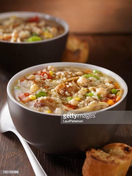 Quinoa Turchia Polpette Zuppa