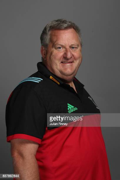 Quins Director of Rugby John Kingston poses for a portrait during the Harlequins photocall for the 20172018 Aviva Premiership Rugby season at The...