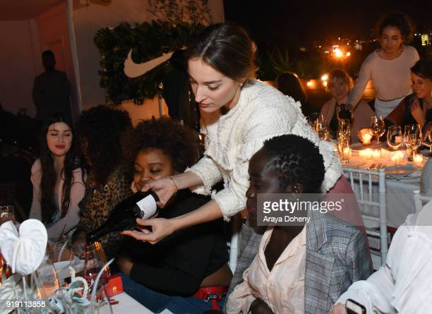 Quinta Brunson and Kuoth Wiel attend the Flaunt Magazine Dinner with Nike and Revolve on February 15 2018 in Los Angeles California