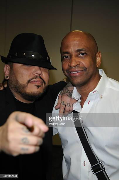 B Quintanilla and Sergio George attends the 'How I Wrote the Song' panel presented by BMI at James L Knight Center on December 11 2009 in Miami...
