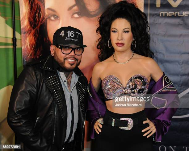 B Quintanilla attends the Madame Tussauds Hollywood's Selena Wax Figure Makes Special Appearance at the Walk of Fame Reception Celebrating Her Legacy...