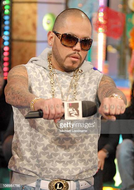AB Quintanilla of the Kumbia AllStars during AB Quintanilla and PeeWee of the Kumbia AllStars Visit MTV Tr3s' 'MiTRL' October 27 2006 at MTV Studios...