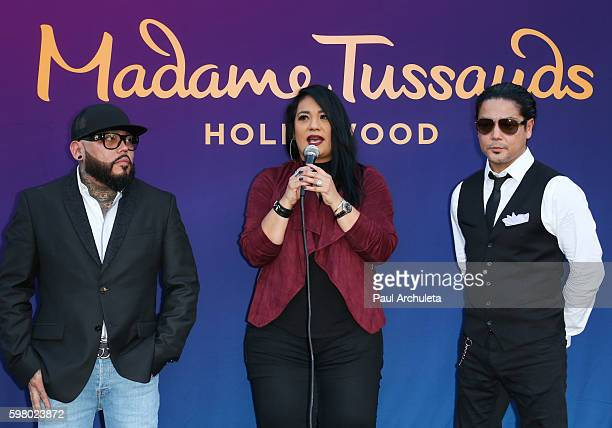 AB Quintanilla Suzette Quintanilla and Chris Perez attend the unveiling of the Selena Quintanilla wax figure at The Madame Tussauds Hollywood on...