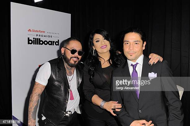 B Quintanilla Suzette Quintanilla and Chris Pérez of Los Dinos attend the 2015 Billboard Latin Music Awards 'Premios Billboard' at BankUnited Center...