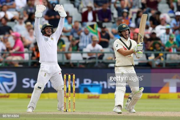 Quinten de Kock appeals against Tim Paine from Australia during day 4 of the 3rd Sunfoil Test match between South Africa and Australia at PPC...