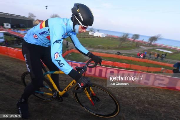Quinten Hermans of Belgium and Team Belgium / during the 70th Cyclo-cross World Championships Bogense 2019 - Training / Cross Denmark / @Bogense2019...