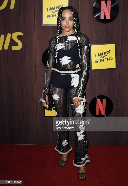 Quintessa Swindell attends Netflix's I Am Not Okay With This Photocall at The London West Hollywood on February 25 2020 in West Hollywood California