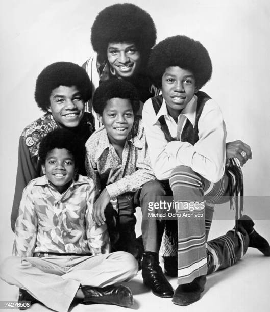 B quintet 'Jackson 5' pose for a portrait in circa 1968 Clockwise from bottom left Michael Jackson Tito Jackson Jackie Jackson Jermaine Jackson...