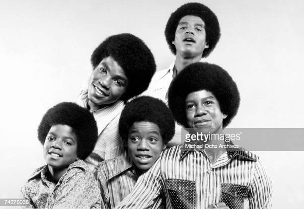 B quintet 'Jackson 5' pose for a portrait in circa 1969 Clockwise from bottom left Michael Jackson Tito Jackson Jackie Jackson Jermaine Jackson...