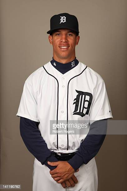 Quintin Berry of the Detroit Tigers poses during Photo Day on Tuesday February 28 2012 at Joker Marchant Stadium in Lakeland Florida