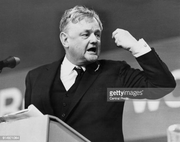 Quintin Hogg , the Shadow Home Secretary, enters the debate on Ulster on the opening day of the Conservative Party Conference in Brighton, UK, 8th...