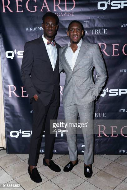 Quintin Williams and Choice Skinner attend Regard Magazine 2018 NBA AllStar PreParty hosted by Derek Fisher at Soho House on February 15 2018 in West...