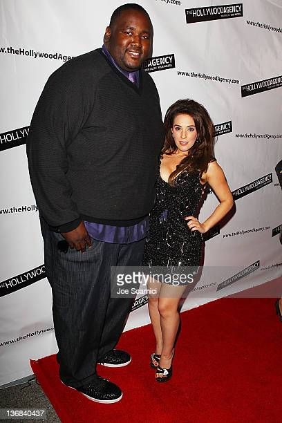 Quinton Aaron and Christina DeRosa arrive at The Hollywood Agency 2012 People's Choice Awards at Club Nokia at L.A. Live on January 11, 2012 in Los...