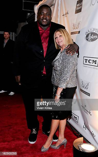 Quinton Aaron and Nancee Borgnine attend The Borgnine Movie Star Gala at Sportsmen's Lodge Event Center on February 23 2013 in Studio City California