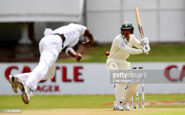 Quinton de Kock of South Africa bats during day 1 of the 2nd Castle Lager Test match between South Africa and Sri Lanka at St George's Park on...