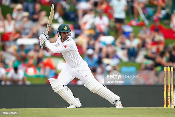 Quinton de Kock of South Africa bats during day two of the 4th Test at Supersport Park on January 23 2016 in Centurion South Africa