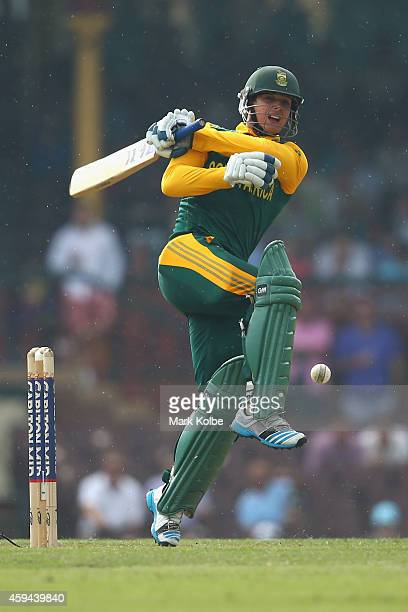 Quinton de Kock of South Africa bats during game five of the One Day International series between Australia and South Africa at the Sydney Cricket...