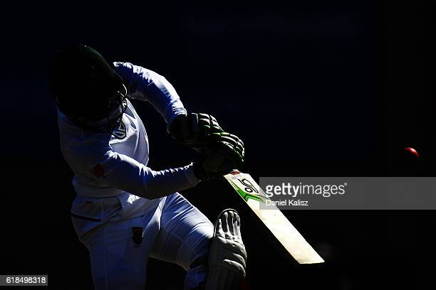 Quinton de Kock of South Africa bats during the Tour match between South Australia and South Africa at Gliderol Oval on October 27 2016 in Adelaide...