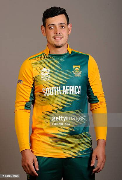 Quinton De Kock of South Africa poses during the official photocall for the ICC Twenty20 World on March 11 2016 in Mumbai India