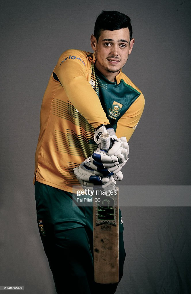 Quinton De Kock of South Africa poses during the official photocall for the ICC Twenty20 World on March 11, 2016 in Mumbai, India.