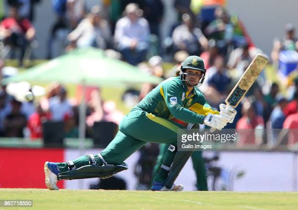 Quinton de Kock of the Proteas during the 2nd Momentum ODI match between South Africa and Bangladesh at Boland Park on October 18 2017 in Paarl South...