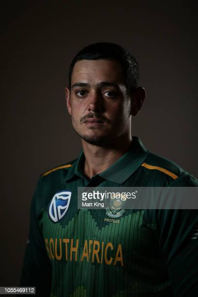 Quinton de Kock poses during the South Africa ODI / T20 headshots session on October 30 2018 in Canberra Australia
