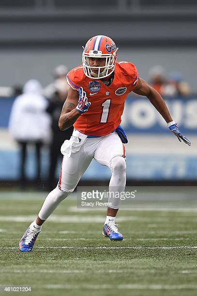 Quinton Dunbar of the Florida Gators runs a pass route against the East Carolina Pirates during the Birmingham Bowl at Legion Field on January 3 2015...