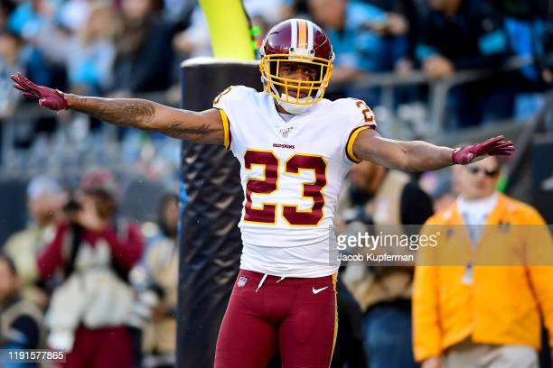 Quinton Dunbar of the Washington Redskins during the second half during their game against the Carolina Panthers at Bank of America Stadium on...