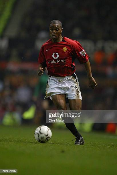 Quinton Fortune of Manchester United during the FA Barclaycard Premiership match between Manchester United and Middlesbrough at Old Trafford on...