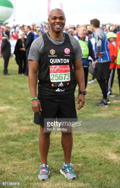 Quinton Fortune poses for a photo ahead of participating in The Virgin London Marathon on April 23 2017 in London England