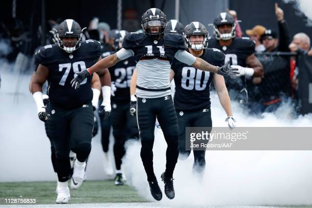 Quinton Patton of the Birmingham Iron takes the field during an Alliance of American Football game against the Memphis Express at Legion Field on...