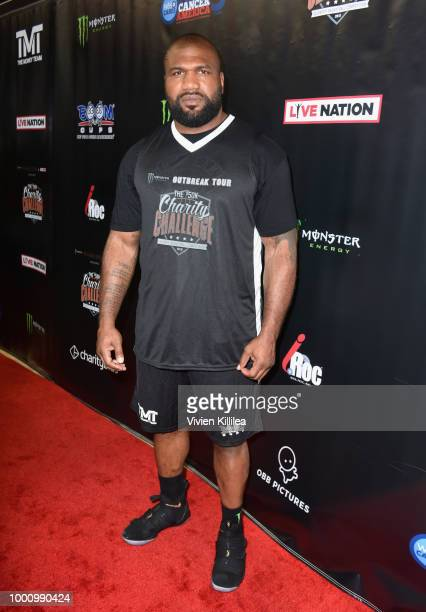 Quinton 'Rampage' Jackson attends 50K Charity Challenge Celebrity Basketball Game at UCLA's Pauley Pavilion on July 17 2018 in Westwood California