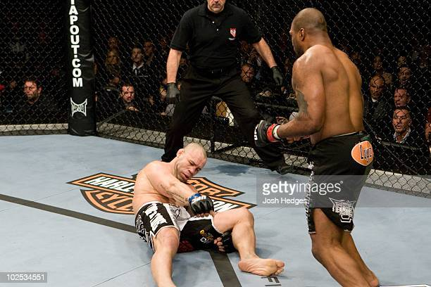 Quinton 'Rampage' Jackson def Wanderlei Silva KO 321 round 1 during the UFC 92 at MGM Grand Garden Arena on December 27 2008 in Las Vegas Nevada