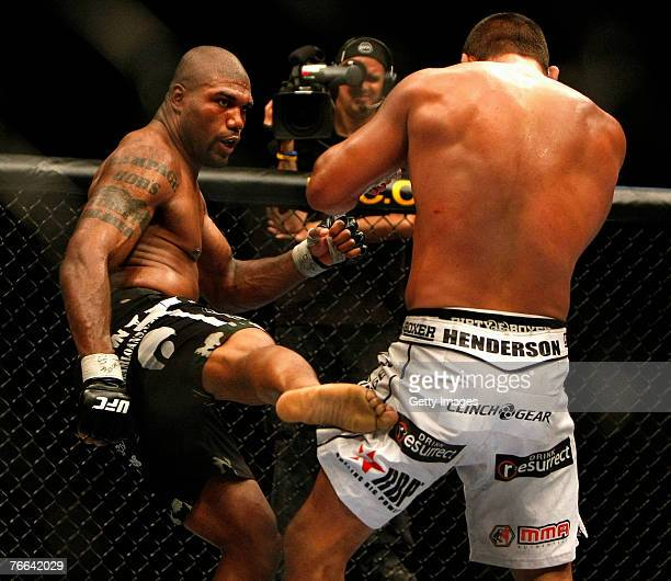 Quinton Rampage Jackson VS Dan Henderson in a Light Heavyweight Championship bout on September 8 2007 in London England The fight is a UFC and Pride...