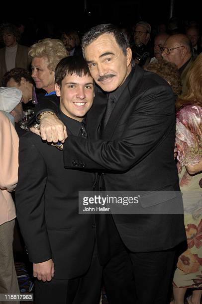 Quinton Reynolds and Burt Reynolds during 2005 Professional Dancers Society Annual Gypsy Awards in Los Angeles California United States