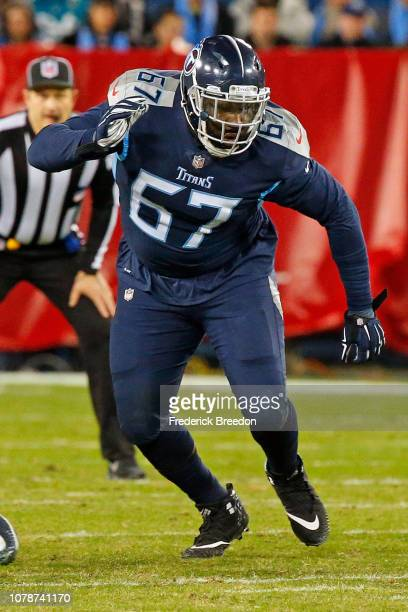 Quinton Spain of the Tennessee Titans against the Jacksonville Jaguars at Nissan Stadium on December 6 2018 in Nashville Tennessee