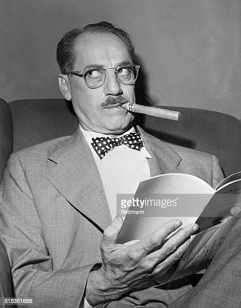 """Quip and quiz matser Groucho Marx, with his quick ad-libs and unusual interviews with contestants, is back for the third season on the NBC """"Groucho..."""