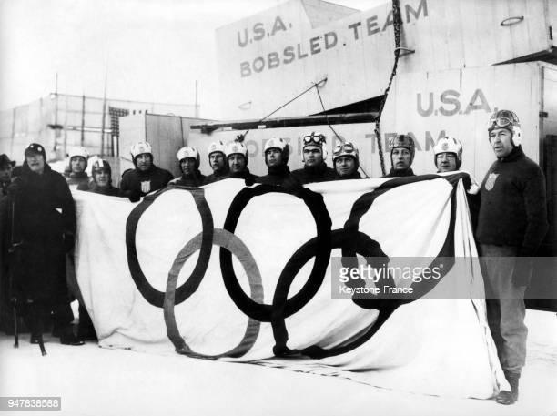 L'équipe de bobsleigh de Lake Placid en 1932 aux EtatsUnis