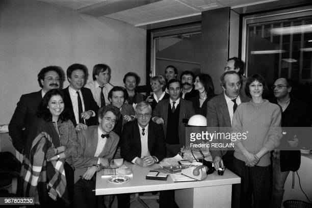 L'équipe des programmes du matin d'Antenne 2 avec entre autres William Leymergie Monique Atlan Patrick Lecoq ChristianMarie Monnot et Brigitte...