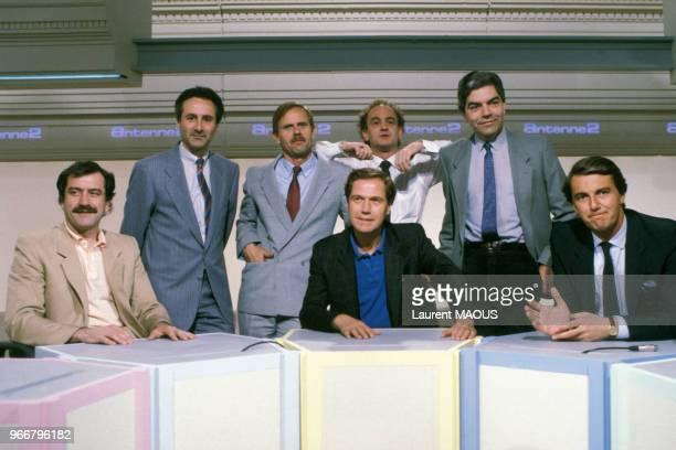 L'équipe du nouveau journal d'Antenne 2 le 24 mai 1985 à Paris France