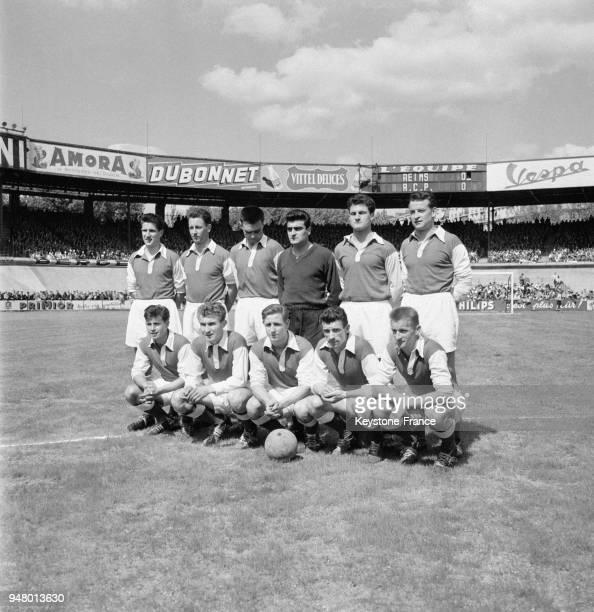 L'équipe du Stade de Reims avant le match en France en 1956