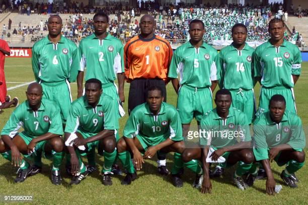 L'équipe nationale de football du Nigéria Taribo West Joseph Yobo Ike Shorunmu Isaac Okoronkwo Ifeanyi Udeze Sunday Oliseh George Finidi Victor Agali...