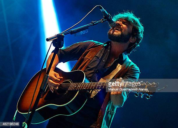 Quique Gonzalez performs on stage at the Jardines del Real on July 15 2014 in Valencia Spain