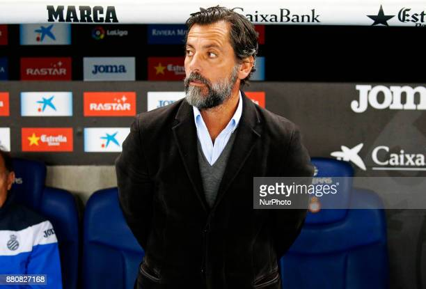 Quique Sanchez Flores during La Liga match between RCD Espanyol v Real Betis Balompiein Barcelona on November 27 2017 Photo Joan...