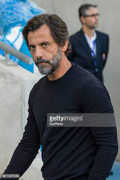 Quique Sanchez Flores during the match between RCD Espanyol vs Athletic Club for the round 11 of the Liga Santander played at RCD Espanyol Stadium on...
