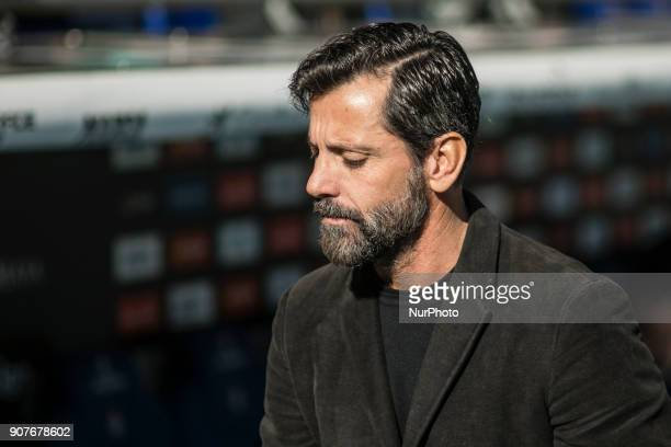 Quique Sanchez Flores from Spain of RCD Espanyol during La Liga match between RCD Espanyol v Sevilla FC at RCD Stadium in Barcelona on 20 of January...