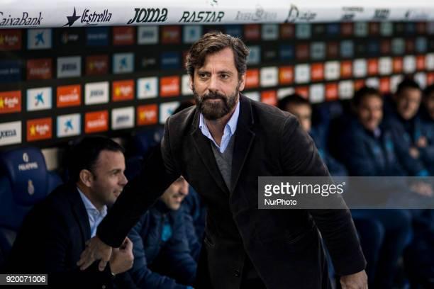 Quique Sanchez Flores from Spain of RCD Espanyol during La Liga match between RCD Espanyol v Villarreal CF at RCD Stadium in Barcelona on 18 of...