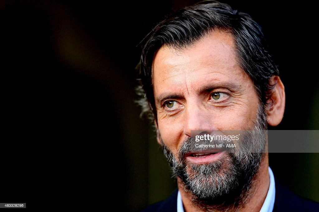 Quique Sanchez Flores manager of Watford during the pre-season friendly between Watford and Seville at Vicarage Road on July 31, 2015 in Watford, England.
