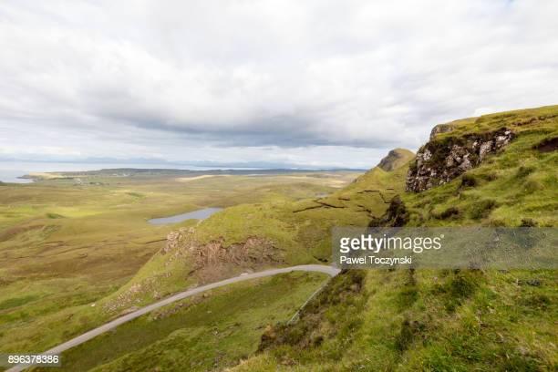 Quiraing landslip on the Isle of Skye, Inner Hebrides, Scotland